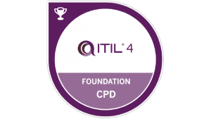 itil 4 foundation badge cpd transparent logo png