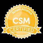 scrum alliance CSM certified srcum master badge transparent png logo