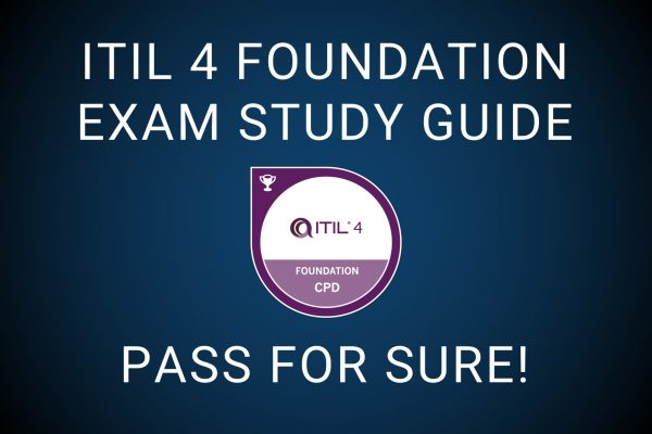 ITIl 4 Foundation study guide exam pass badge logo certificate