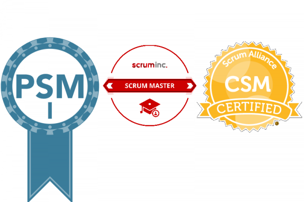 SM, PSM, CSM Scrum certificates