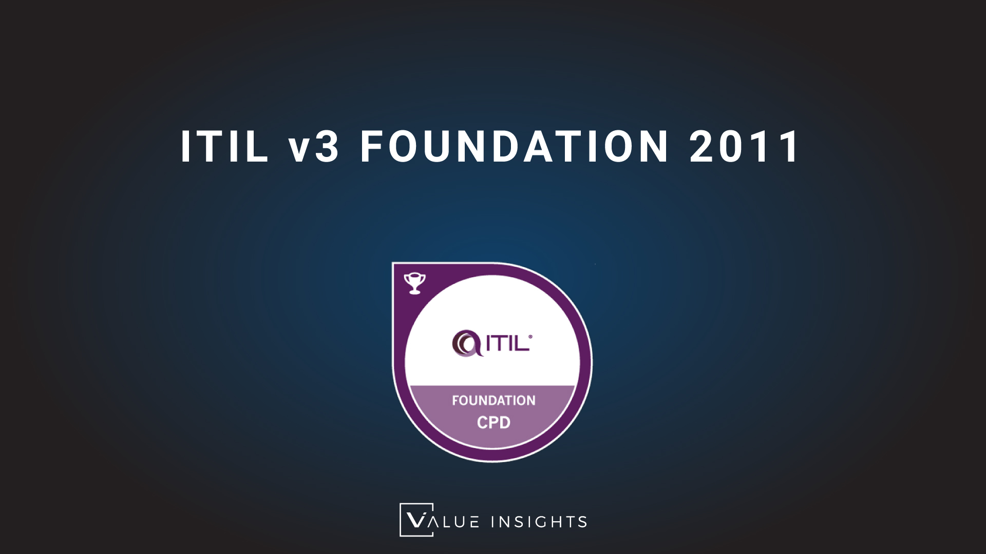itil 3 foundation badge cpd transparent logo png