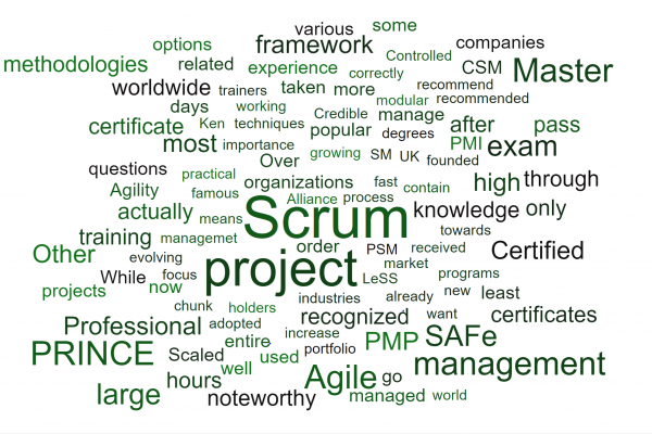 scrum pmp pmi project management institute prince2 foundation itil 4 safe scaled agile certificate credentials