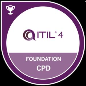 itil 4 foundation badge cpd transparent logo png