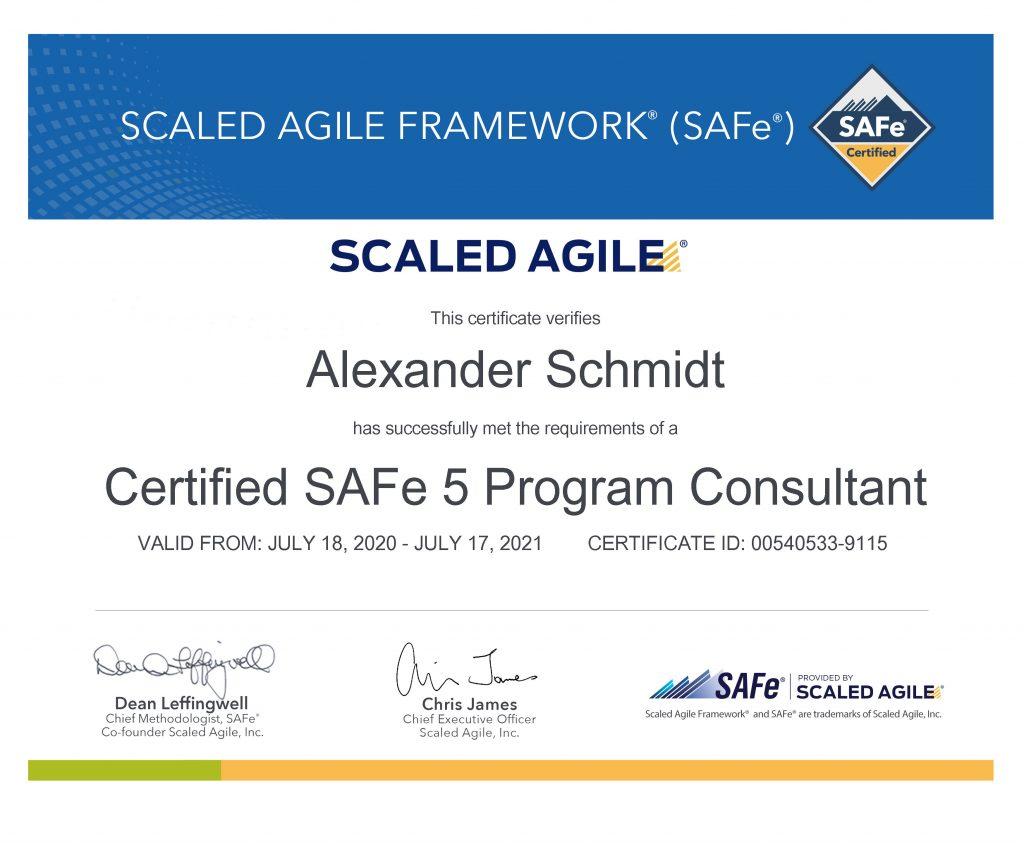 accredited official scaled agile framework program consultant spc certificate value insights switzerland alexander schmidt