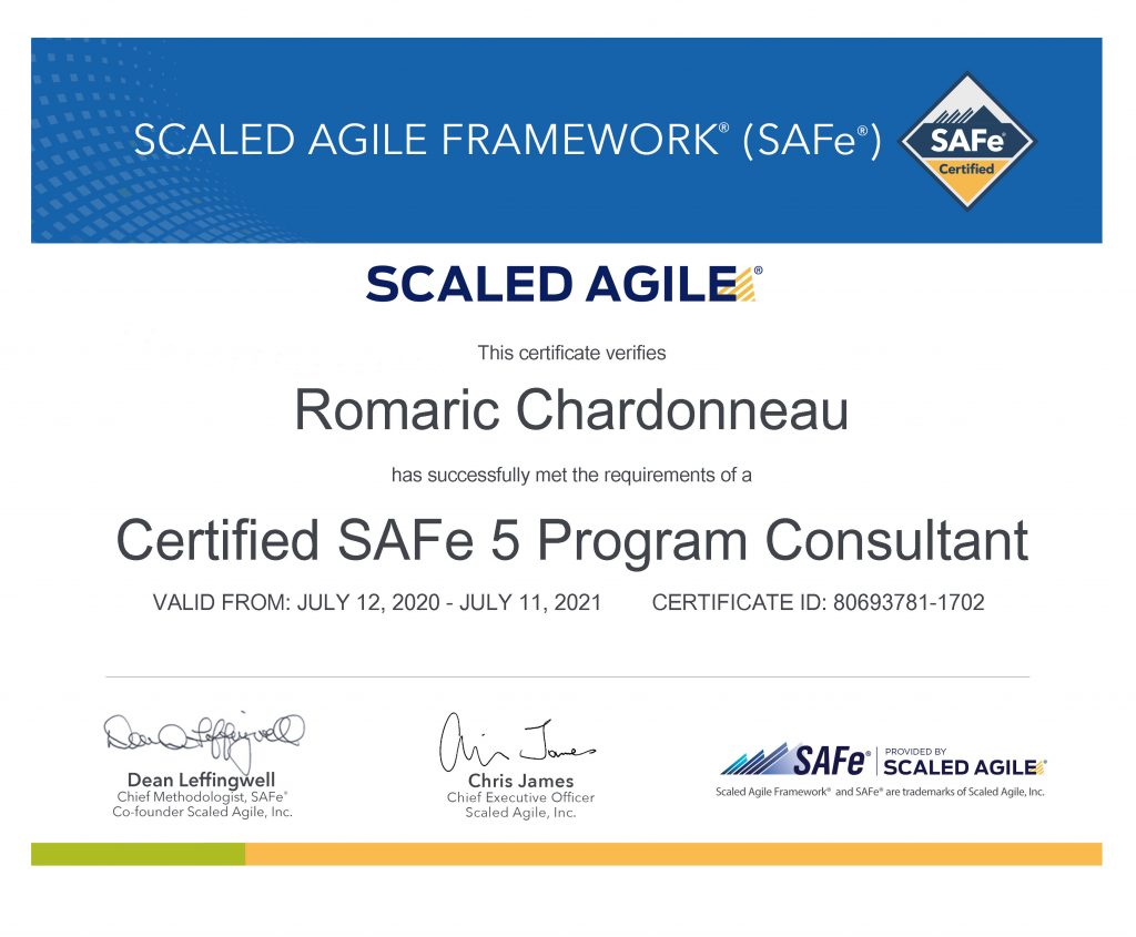 accredited official scaled agile framework program consultant spc certificate value insights switzerland romaric chardonneau