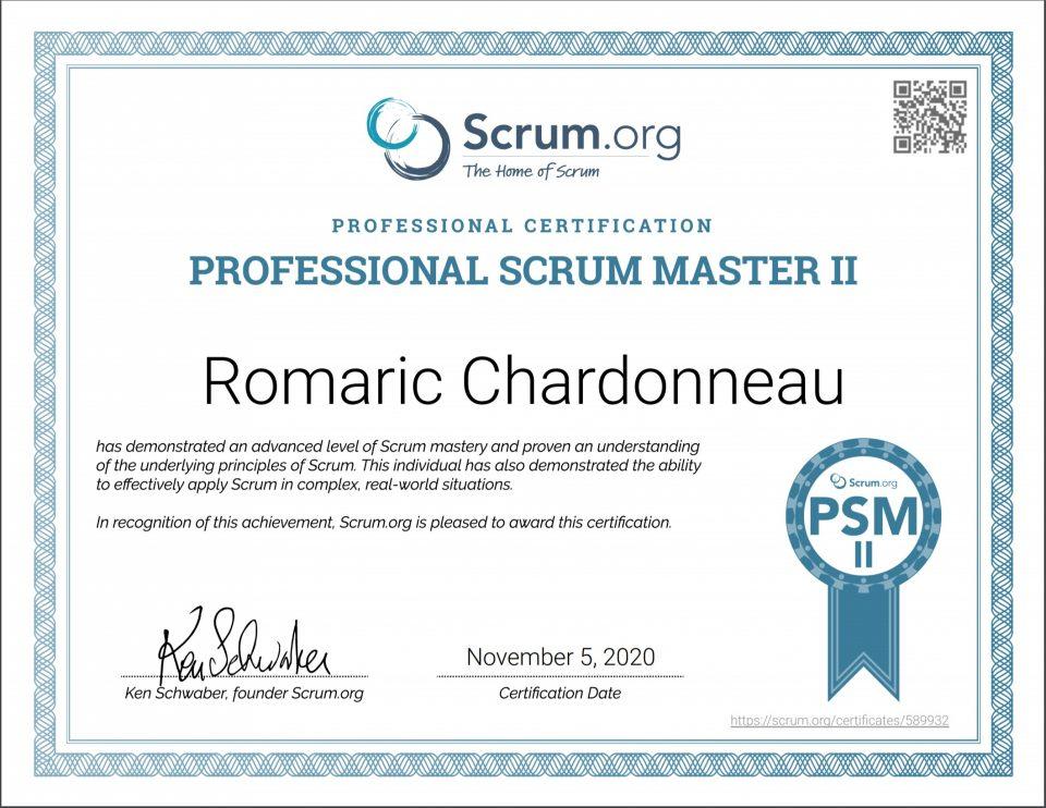 psm 2 professional scrum master switzerland scrum.org romaric chardonneau
