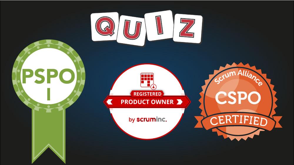 Scrum Product Owner exam practice test questions: PSPO I, CSPO, RPO