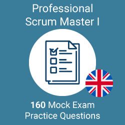 160 Professional Scrum Master I mock exam questions prepared by Value Insights, simulating the official scrum.org PSM I exam.